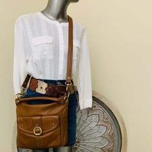 "Stone Mountain ""SOPHIA"" Leather Crossbody/Satchel"
